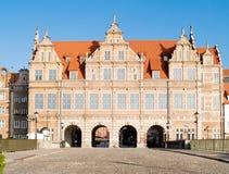 vieja puerta de la ciudad, Gdansk Fotos de archivo