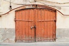 Vieja puerta de madera Fotos de archivo