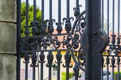 Vieja puerta del metal Imagenes de archivo