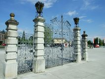 Vieja puerta del metal en Kreuzlingen fotografía de archivo