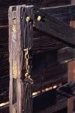 Vieja puerta del rancho - vertical Fotografía de archivo libre de regalías
