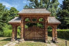 Vieja puerta rumana tradicional Fotos de archivo libres de regalías