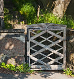 Vieja puerta wheathered Imagenes de archivo