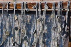 Vieja red de pesca Fotos de archivo
