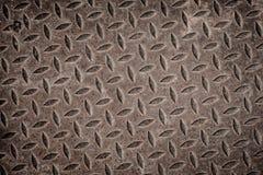 Vieja rejilla oxidada del dren del hierro. Imagen de archivo libre de regalías