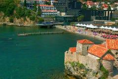 Vieja república Montenegro de Budva de la ciudad fotografía de archivo libre de regalías
