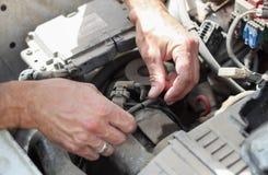 Vieja reparación del coche Foto de archivo libre de regalías