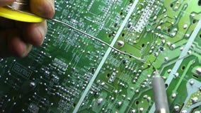 Vieja rotación electrónica de la placa de circuito del pedazo de la TV metrajes