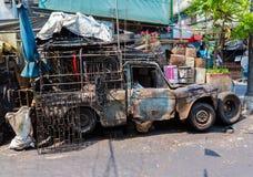Vieja ruina del coche Imagenes de archivo
