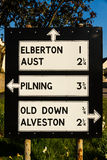 Vieja señal de tráfico de Pre-worboys en Reino Unido Imagen de archivo libre de regalías