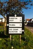 Vieja señal de tráfico de Pre-worboys en Reino Unido Fotografía de archivo