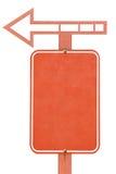 Vieja señal de tráfico en blanco Imagen de archivo