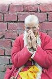 Vieja señora tibetana Fotos de archivo libres de regalías
