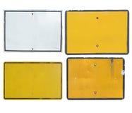 Vieja señal de tráfico en blanco Imagen de archivo libre de regalías