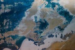 Vieja superficie con la pintura gastada, similar al mapa del mundo Fotos de archivo libres de regalías