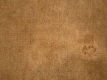 Vieja superficie de la arpillera Foto de archivo