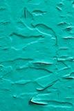 Vieja superficie de madera en turquesa Foto de archivo libre de regalías