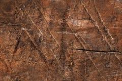 Vieja superficie de madera oscura seca, texturizada y detallada Fotografía de archivo libre de regalías
