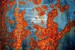 Vieja superficie de metal aherrumbrada Fotografía de archivo