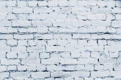 Vieja superficie del ladrillo del color plateado pálido Foto de archivo