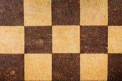 Vieja superficie llevada del tablero de ajedrez Fotografía de archivo libre de regalías