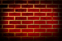 Vieja superficie roja de la pared de ladrillo Imagen de archivo