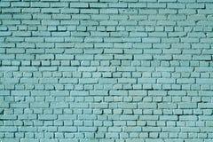 vieja superficie sucia de la pared de ladrillo del color ciánico fotografía de archivo