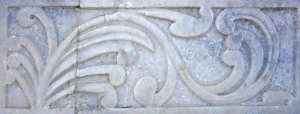 Vieja talla de piedra del Flourish Fotos de archivo libres de regalías