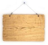 Vieja tarjeta de aviso de madera