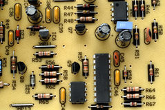 Vieja tarjeta de circuitos Foto de archivo