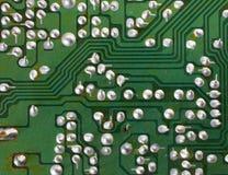 Vieja tarjeta de circuitos Fotos de archivo libres de regalías