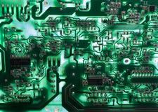 Vieja tarjeta de circuitos de la televisión fotos de archivo