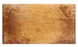 Vieja tarjeta de corte de madera Fotos de archivo