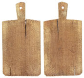 Vieja tarjeta de corte de madera Foto de archivo libre de regalías