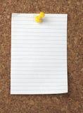 Vieja tarjeta de papel del corcho del fondo de la nota de Brown Fotos de archivo libres de regalías