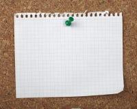 Vieja tarjeta de papel del corcho del fondo de la nota de Brown Foto de archivo