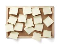 Vieja tarjeta de papel del corcho del fondo de la nota de Brown Imagen de archivo
