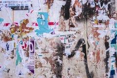 Vieja textura acodada de la pared de los carteles Fotografía de archivo libre de regalías