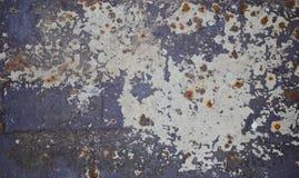 Vieja textura aherrumbrada del metal para el fondo Fotos de archivo libres de regalías