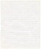 Vieja textura alineada sucia del papel de nota del ejercicio Fotos de archivo libres de regalías