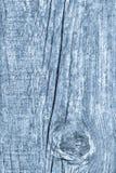 Vieja textura azul de madera anudada del fondo del Grunge Fotografía de archivo libre de regalías
