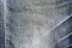 Vieja textura azul del dril de algodón imagenes de archivo