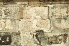 Vieja textura blanca de la albañilería del ladrillo Imágenes de archivo libres de regalías