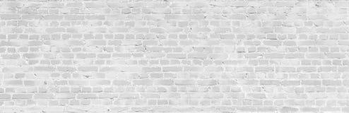 Vieja textura blanca de la pared de ladrillo imagenes de archivo
