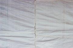 Vieja textura blanca de la tela de las lonas Imágenes de archivo libres de regalías