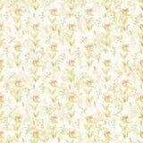 Vieja textura botánica lamentable del papel del modelo del flourish Imagen de archivo libre de regalías