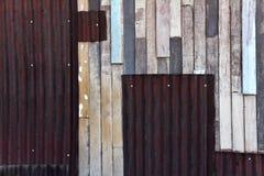 Vieja textura coloreada de madera de la pared Foto de archivo