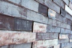Vieja textura coloreada de madera de la pared Fotografía de archivo libre de regalías