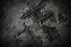 Vieja textura concreta gris del grunge Foto de archivo