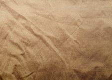 Vieja textura crampled de la tela Fotografía de archivo